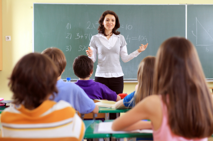 Teacher and student on a lesson.